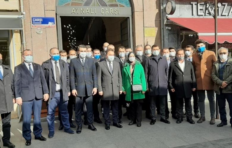 DEVA PARTİSİ GENEL BAŞKANI ALİ BABACAN ÇANAKKALE' DE ESNAFI ZİYARET ETTİ