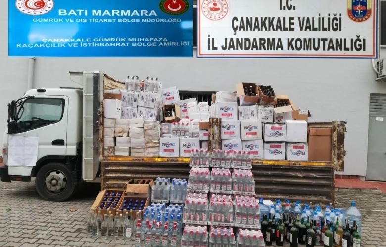 ÇANAKKALE' DE KAÇAK ALKOL' E JANDARMA GEÇİT VERMİYOR