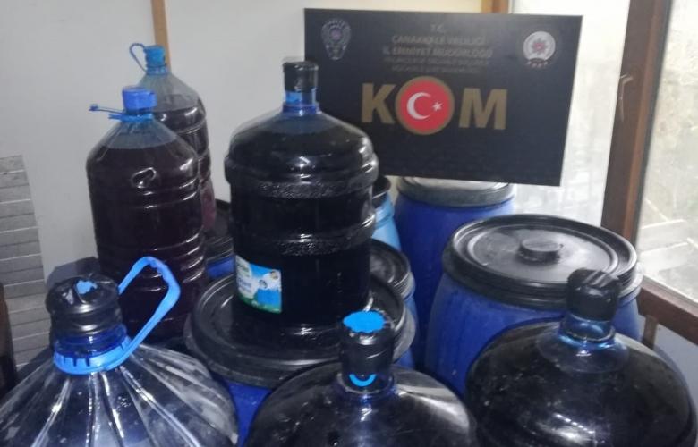 1.000 LİTRE YAPMA ŞARAP ELEGEÇİRİLDİ