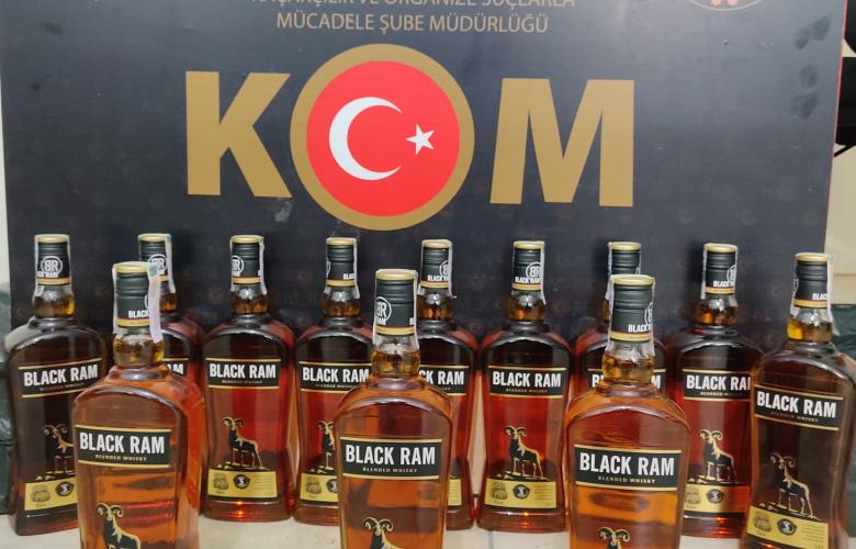 GÜMRÜK KAÇAĞI ALKOLLÜ İÇKİLERE EL KONDU