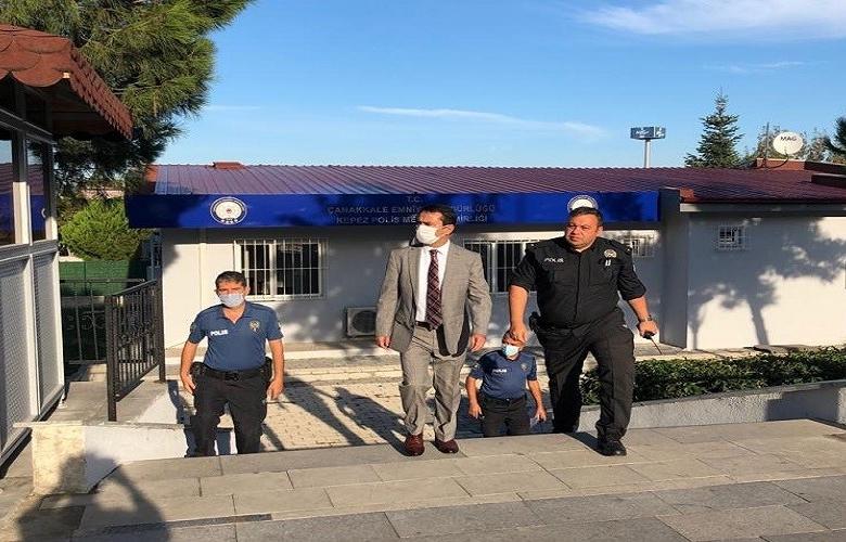 VALİ AKTAŞ'TAN POLİS MERKEZLERİNE ZİYARET