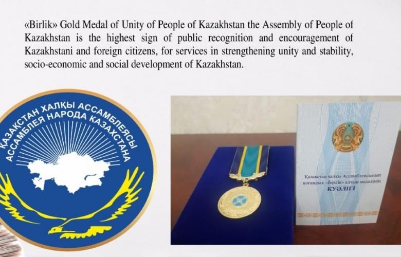 ÇOMÜ'YE BİR MADALYA DA KAZAKİSTAN'DAN